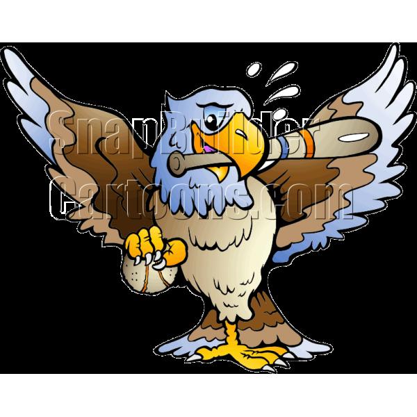 Baseball eagle mascot clipart jpg Eagle Holding Baseball Bat jpg