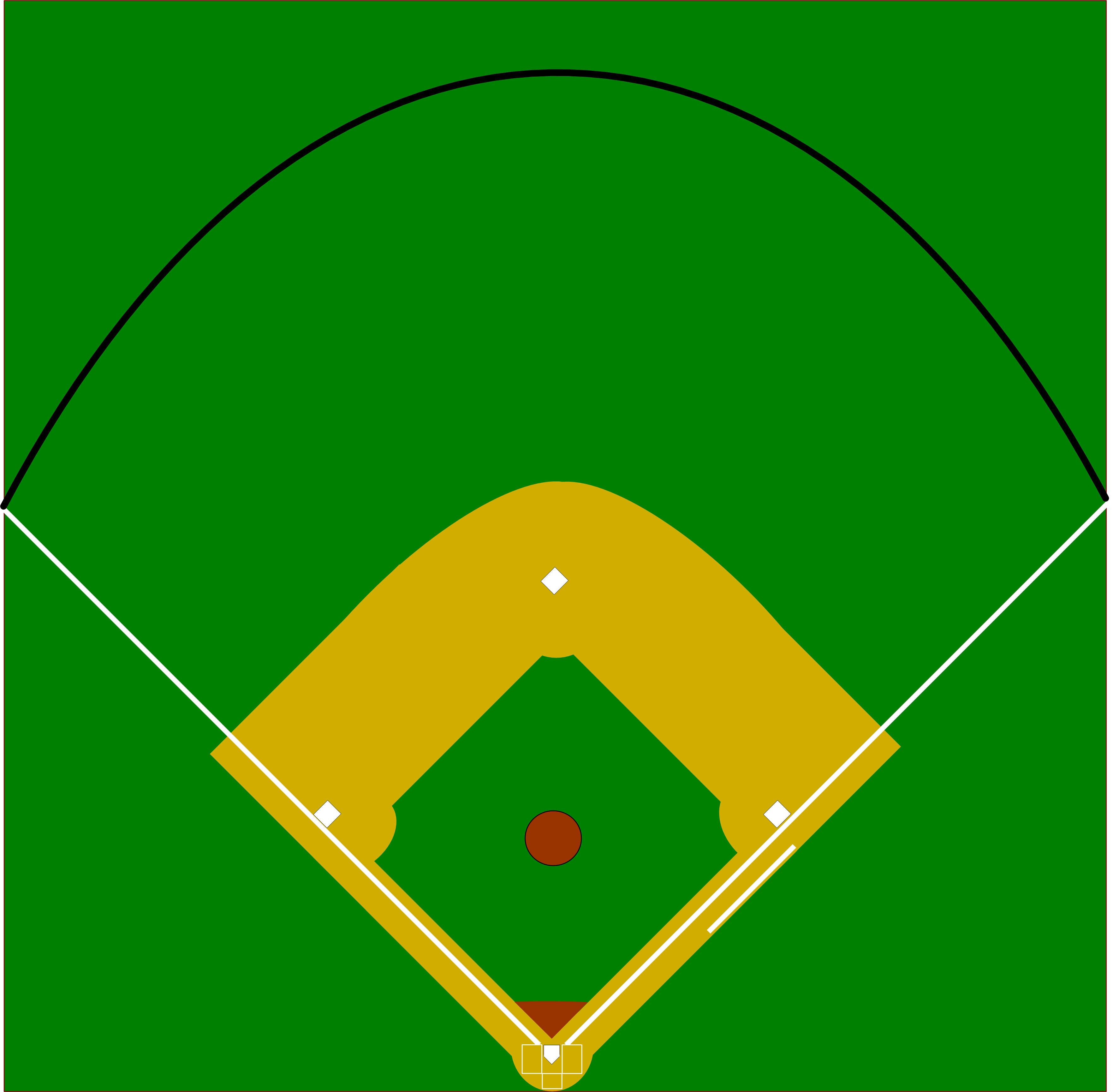 Baseball fence clipart clip transparent Baseball Diamond Diagram Clipart | Free download best Baseball ... clip transparent