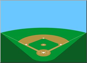 Baseball fiel clipart jpg royalty free Clip Art: Baseball Field 2 Color 1 I abcteach.com | abcteach jpg royalty free