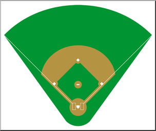 Baseball diamond images clipart picture free download Clip Art: Baseball Field 1 Color 2 I abcteach.com | abcteach picture free download
