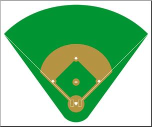 Baseball fiel clipart graphic freeuse download Clip Art: Baseball Field 1 Color 2 I abcteach.com | abcteach graphic freeuse download