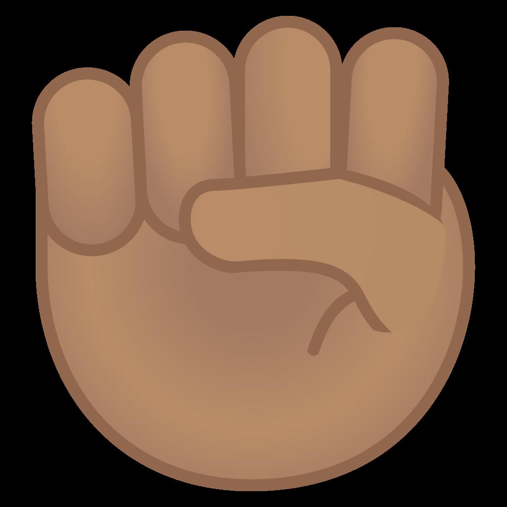 Baseball fist clipart picture library Raised fist medium skin tone Icon   Noto Emoji People Bodyparts ... picture library