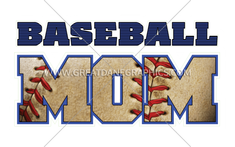 Baseball mom clipart black & white graphic Baseball Mom | Production Ready Artwork for T-Shirt Printing graphic