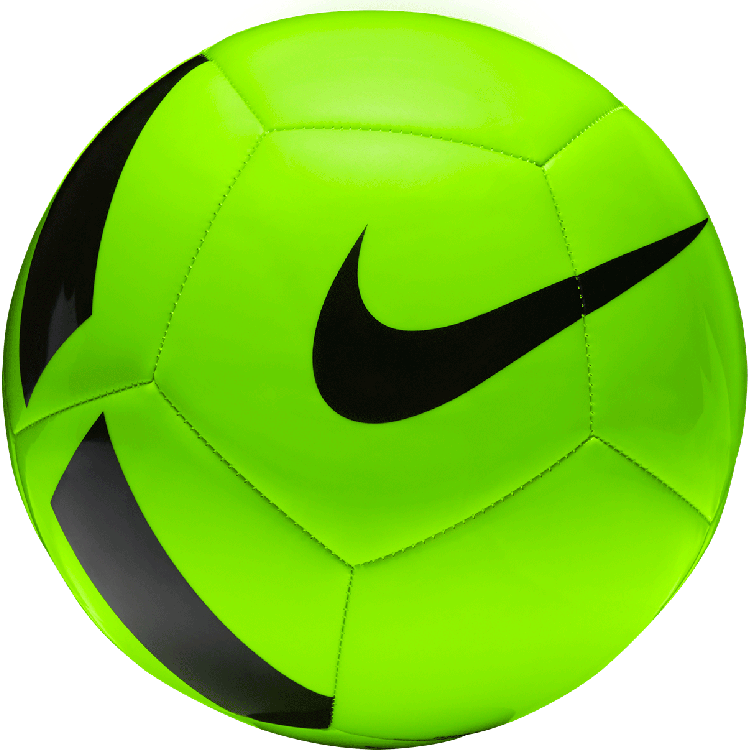 Football clipart with nike logo image transparent Nike Pitch Team Soccer Ball - Electric Green/Black image transparent