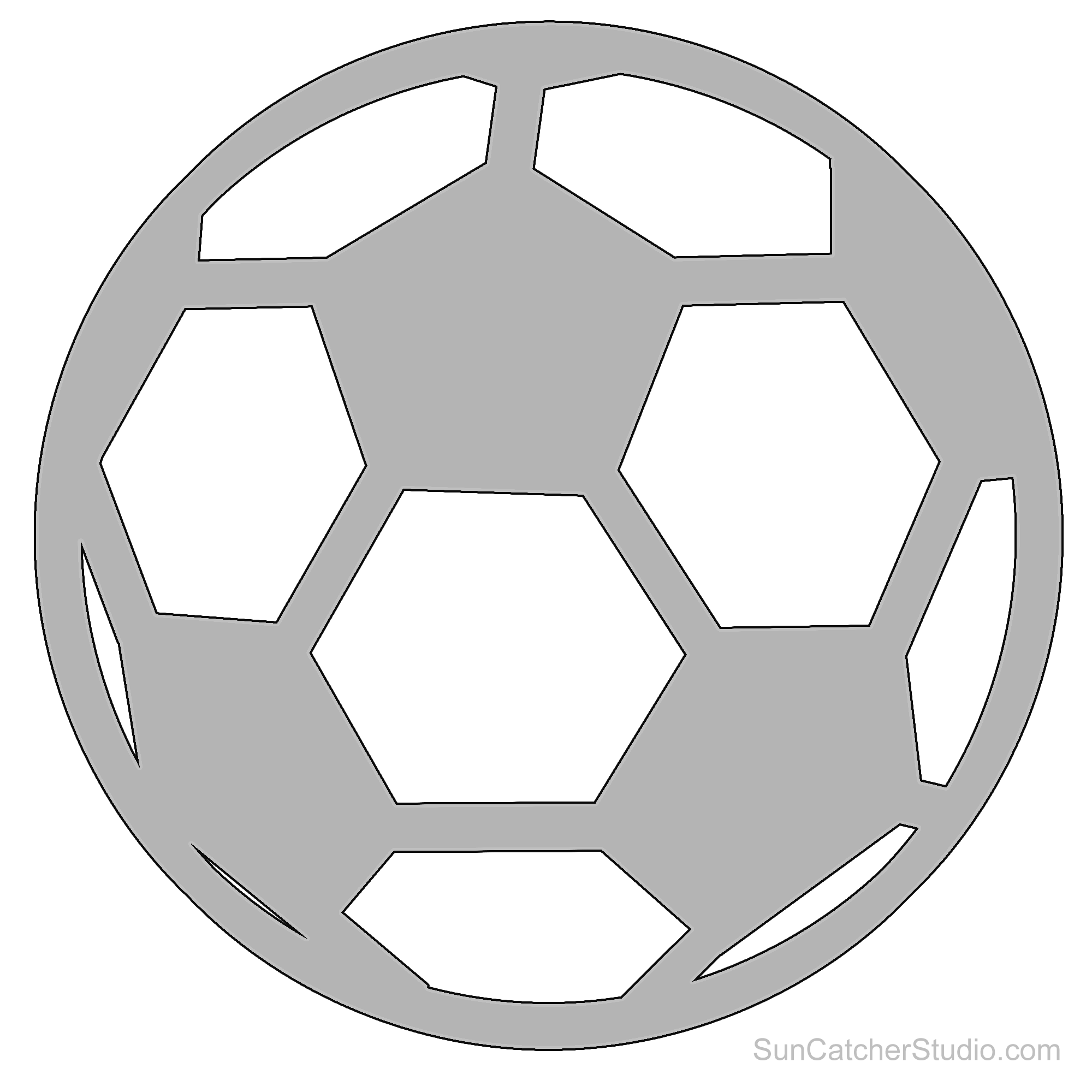 Distressed football outline clipart jpg freeuse library soccer-ball-pattern.png (2000×2000) | Proyecto Cameo | Pinterest ... jpg freeuse library