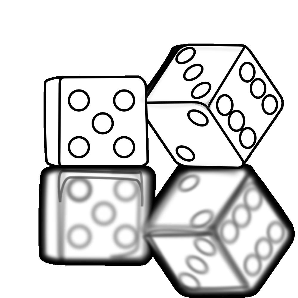 Baseball game clipart black and white svg black and white stock White dice clipart, explore pictures svg black and white stock