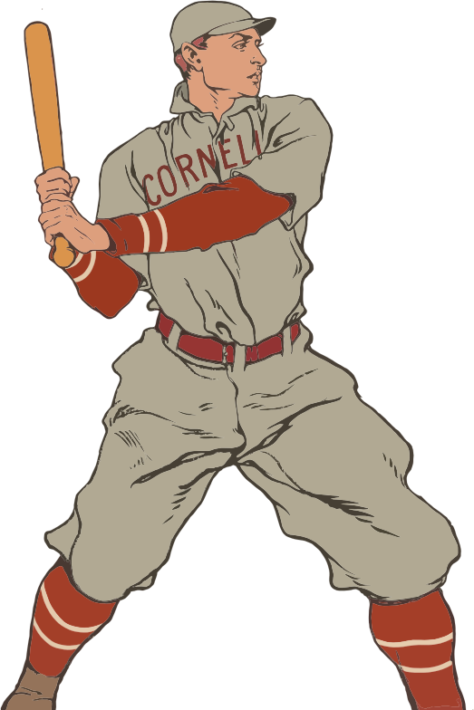 Kids baseball clipart banner royalty free stock Free vintage baseball player clip art - Clipartix banner royalty free stock