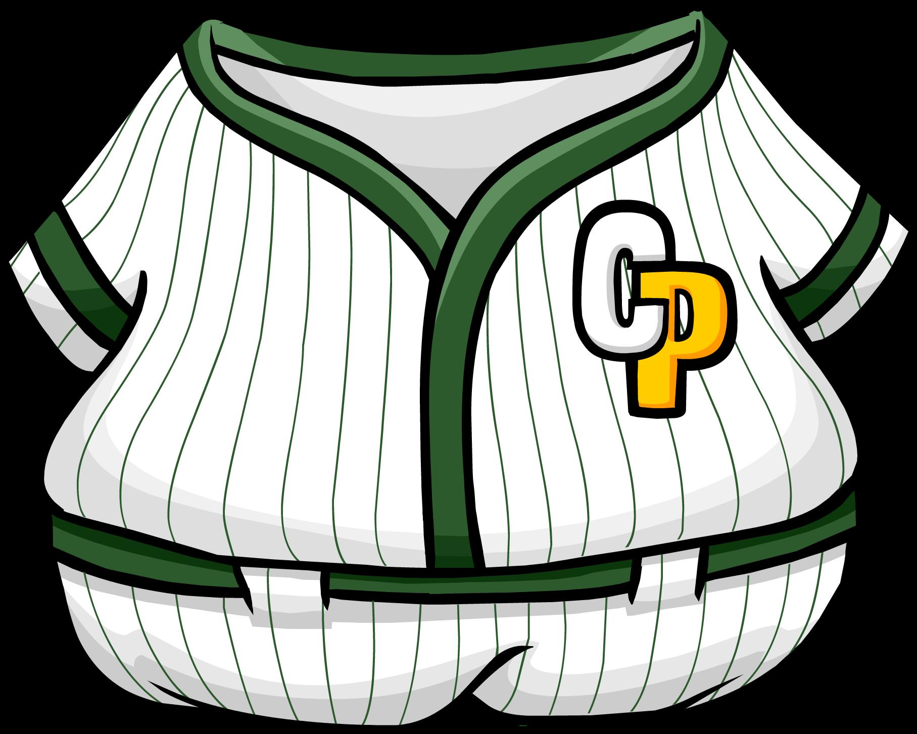 Baseball game on tv clipart clip freeuse Green Baseball Uniform | Club Penguin Wiki | FANDOM powered by Wikia clip freeuse