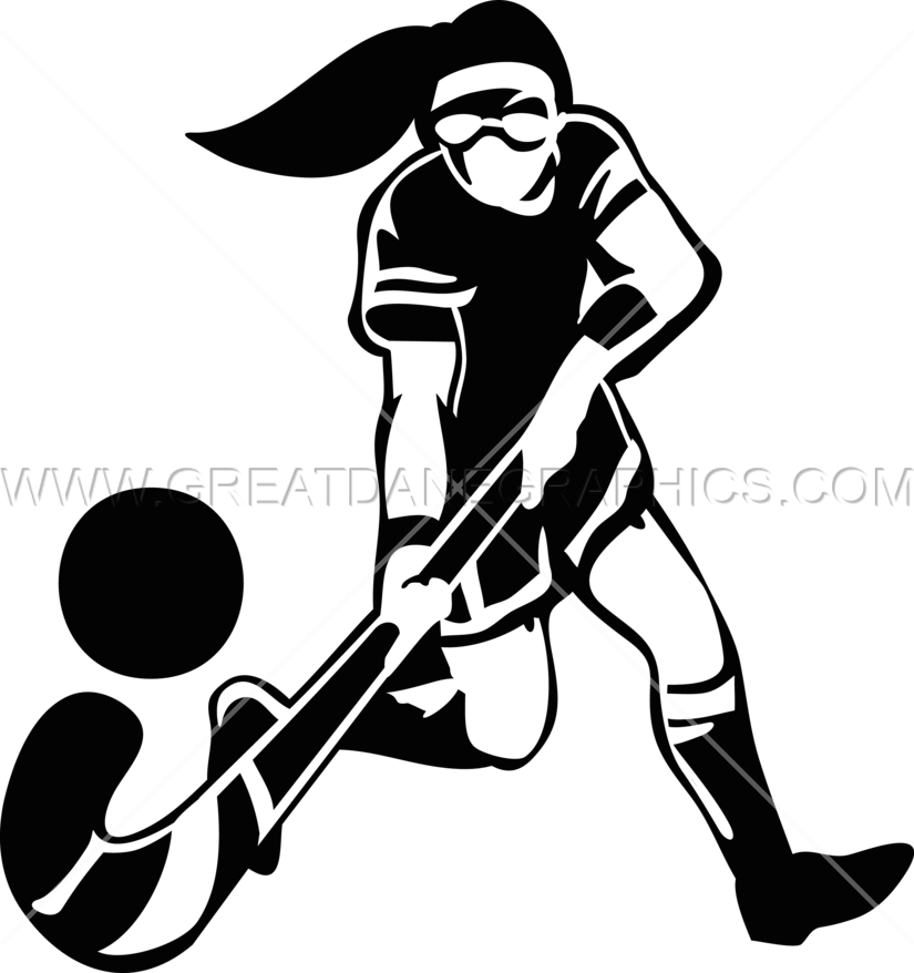 Girl hockey silhouette at. Female football player clipart