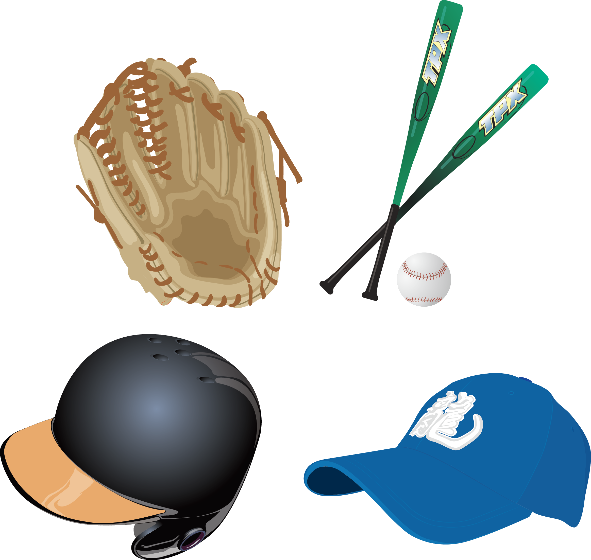 Clipart baseball glove banner freeuse stock Basketball Baseball Sport Clip art - Baseball Set 2329*2208 ... banner freeuse stock