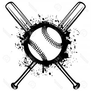 Baseball helment with bats clipart black and white png free library Photostock Vector Abstract Vector Illustration Black And White ... png free library