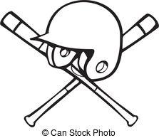 Baseball helmet and bat clipart png black and white Baseball gear Stock Illustration Images. 943 Baseball gear ... png black and white
