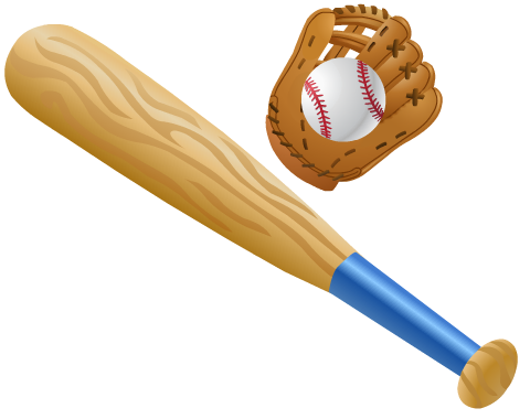 Softball with bat and glove clipart picture transparent library Free Softball and Baseball Clip Art | Printables Galore | Softball ... picture transparent library
