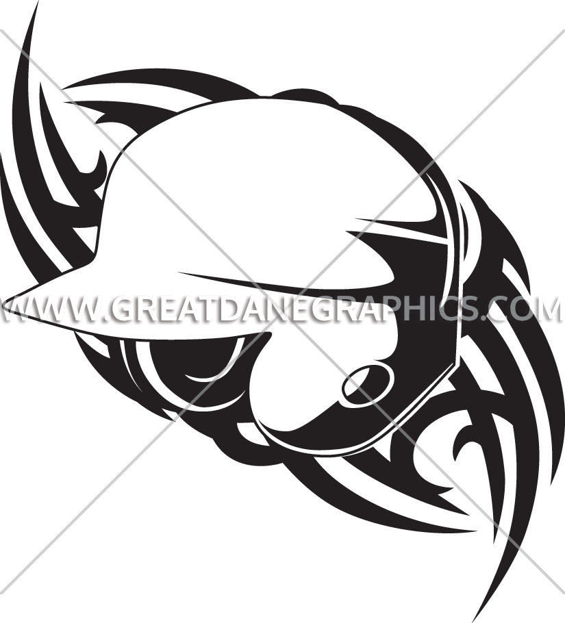 Tribal baseball clipart graphic library Baseball Helmet Tribal | Production Ready Artwork for T-Shirt Printing graphic library