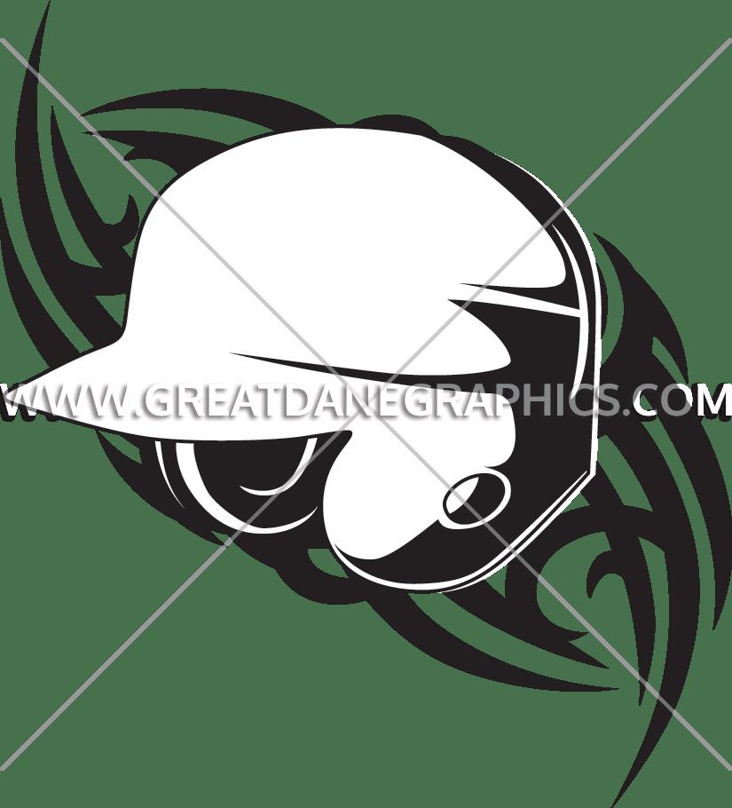 Baseball Helmet Tribal | Production Ready Artwork for T-Shirt Printing graphic library
