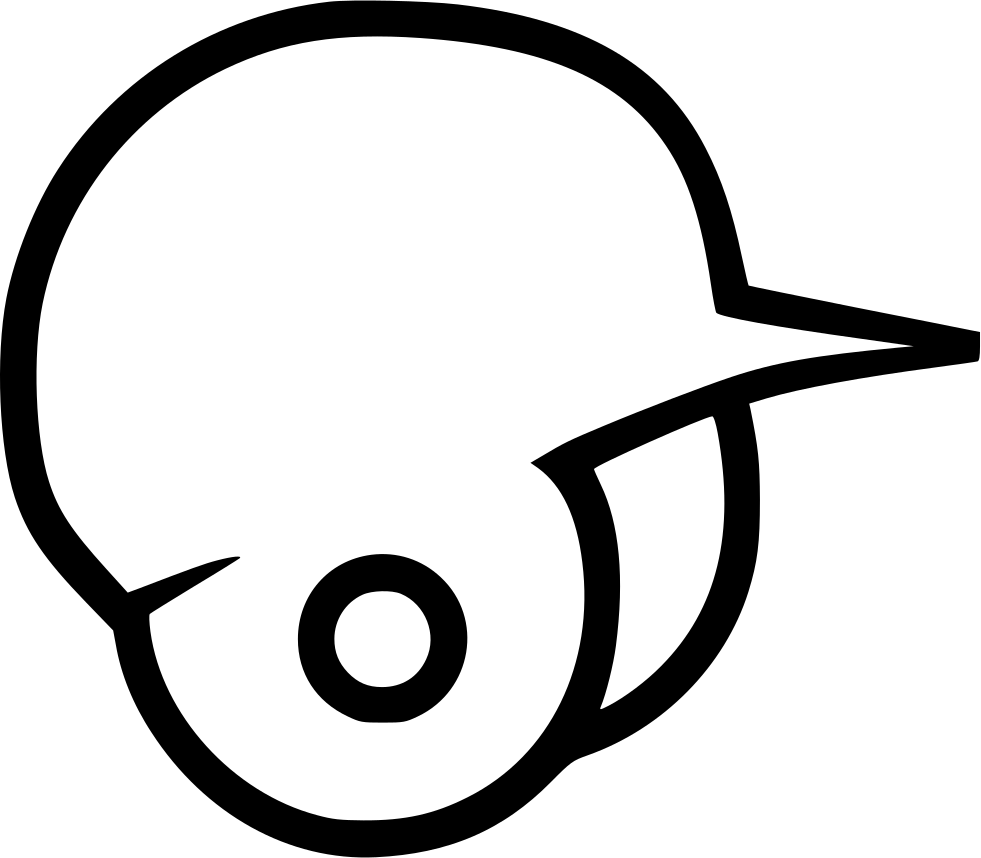 Baseball helmet clipart black and white png library Baseball Helmet Drawing at GetDrawings.com | Free for personal use ... png library