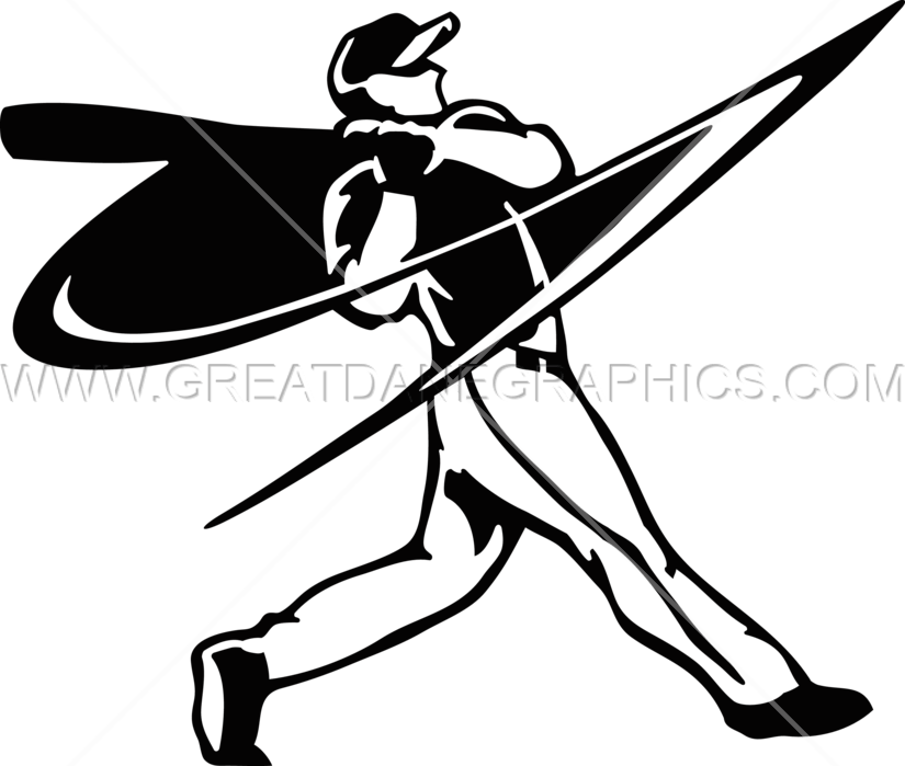 Hitting a baseball clipart picture transparent download Baseball Player Swinging | Production Ready Artwork for T-Shirt Printing picture transparent download