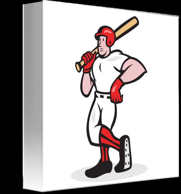 Baseball hitter clipart jpg free download Baseball Hitter Bat Shoulder Cartoon by Aloysius Patrimonio jpg free download