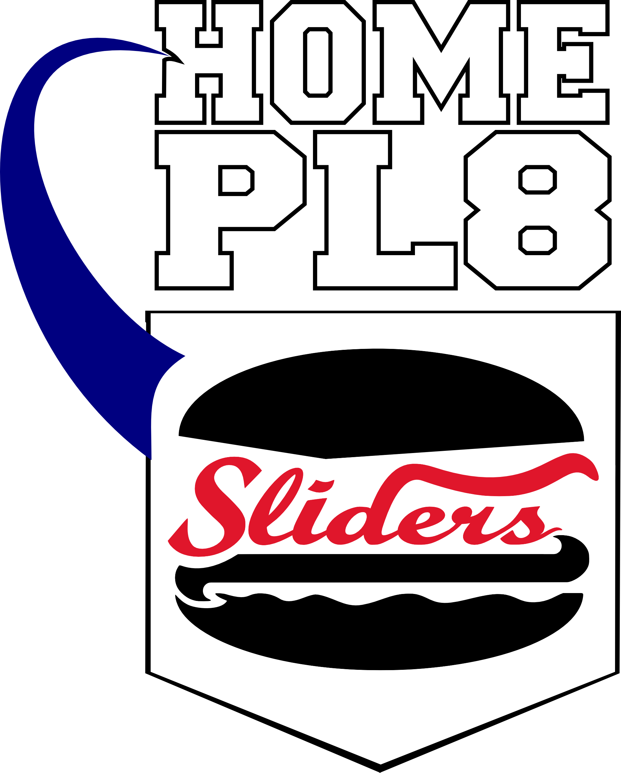 Baseball home base clipart picture royalty free stock Home Plate Sliders picture royalty free stock