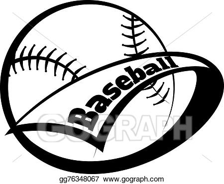 Baseball inside cricle with cross through it clipart jpg library stock Vector Art - Baseball pennant. EPS clipart gg76348067 - GoGraph jpg library stock