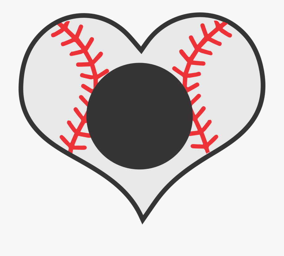 Baseball inside cricle with cross through it clipart image black and white Png Images In Collection - Baseball Heart Clipart , Transparent ... image black and white