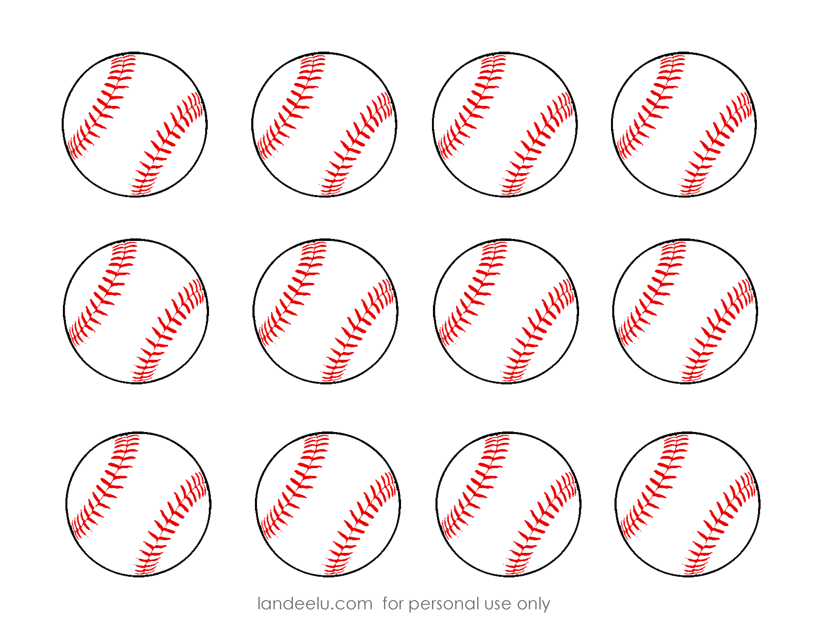 Baseball snacks clipart banner library free printable baseball clip art images | Inch Circle Punch or ... banner library