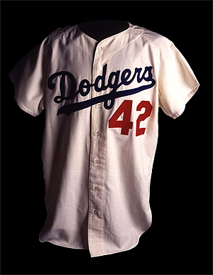 Baseball jersey 42 clipart svg black and white stock Reflections on Jackie Robinson Day ‹ Upper Deck Blog svg black and white stock
