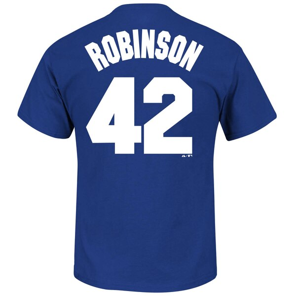 Baseball jersey 42 clipart clip library stock Men\'s Brooklyn Dodgers Jackie Robinson Royal Big & Tall Cooperstown Name &  Number T-Shirt clip library stock