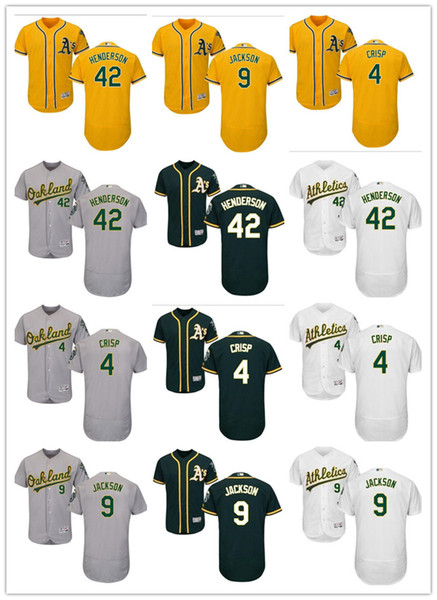 Baseball jersey 42 clipart png transparent 2019 Custom Men\'S Women Youth Majestic Athletics Jersey #42 Dave Henderson  4 Coco Crisp 9 Reggie Jackson Yellow White Grey Baseball Jerseys From ... png transparent