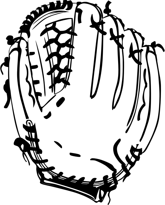 Baseball with bow clipart royalty free Clipart - Baseball glove royalty free