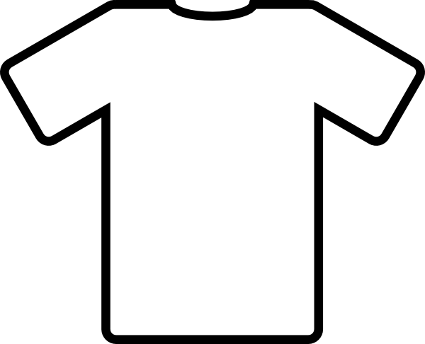 Kids tshirt clipart picture black and white Kid+drawn+soccer+jersey | White T Shirt clip art - vector clip art ... picture black and white