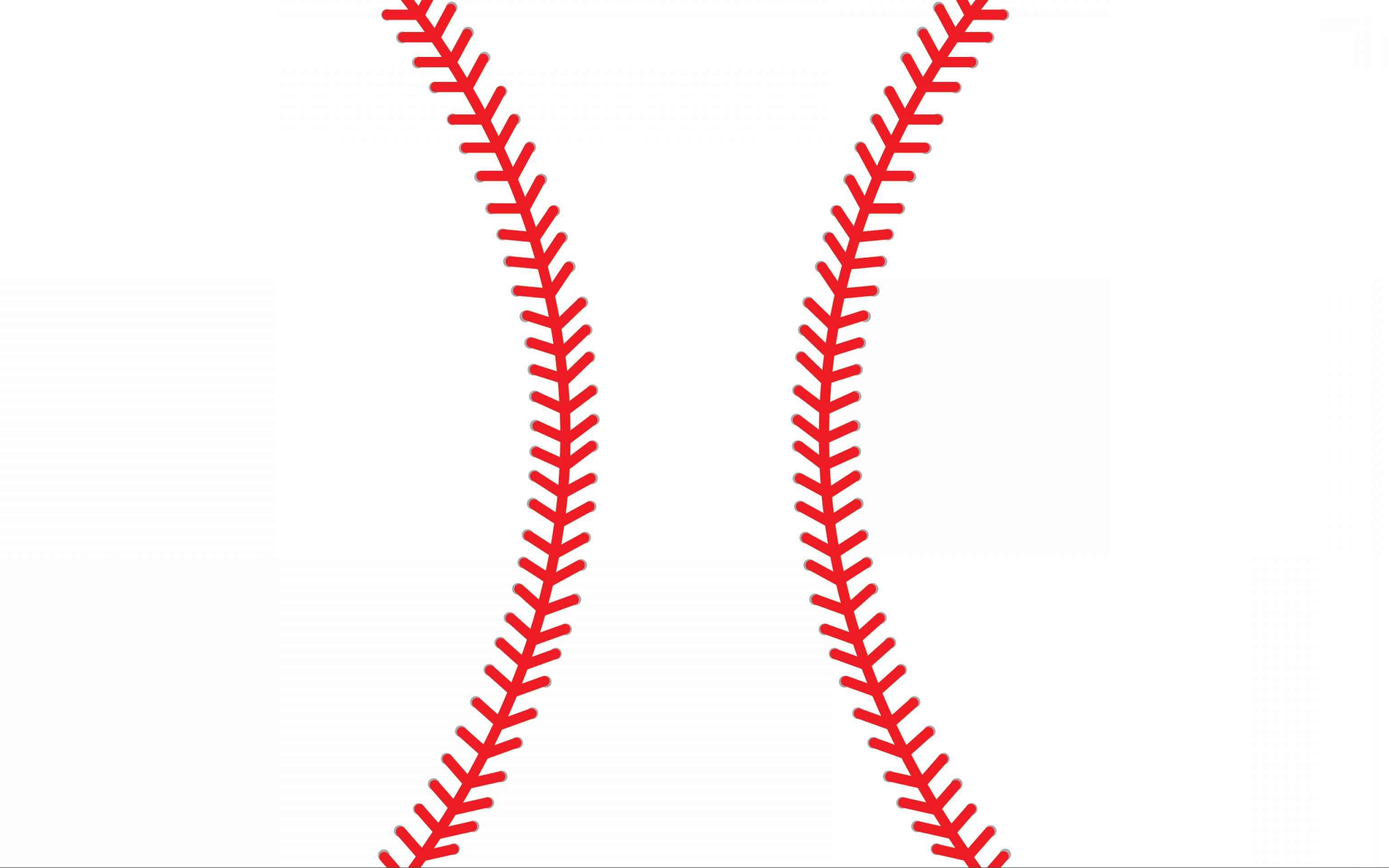 Baseball laces clipart black