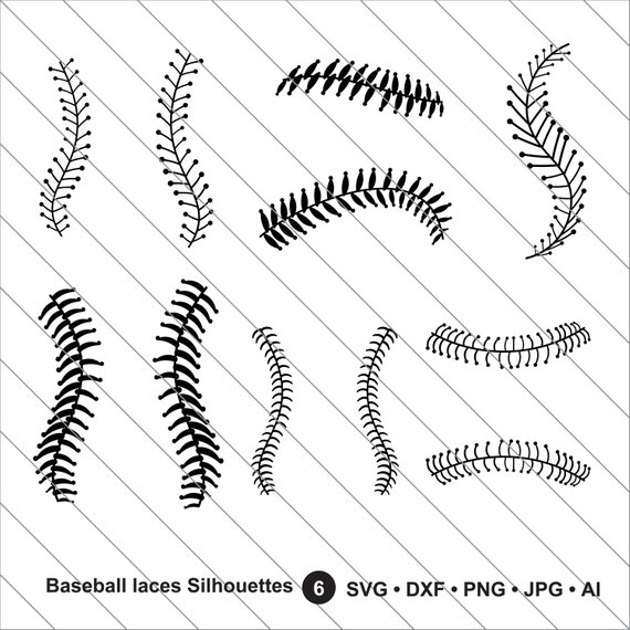 Baseball laces clipart black clip stock Baseball laces Silhouettes SVG, Baseball mom svg, baseball stitches ... clip stock