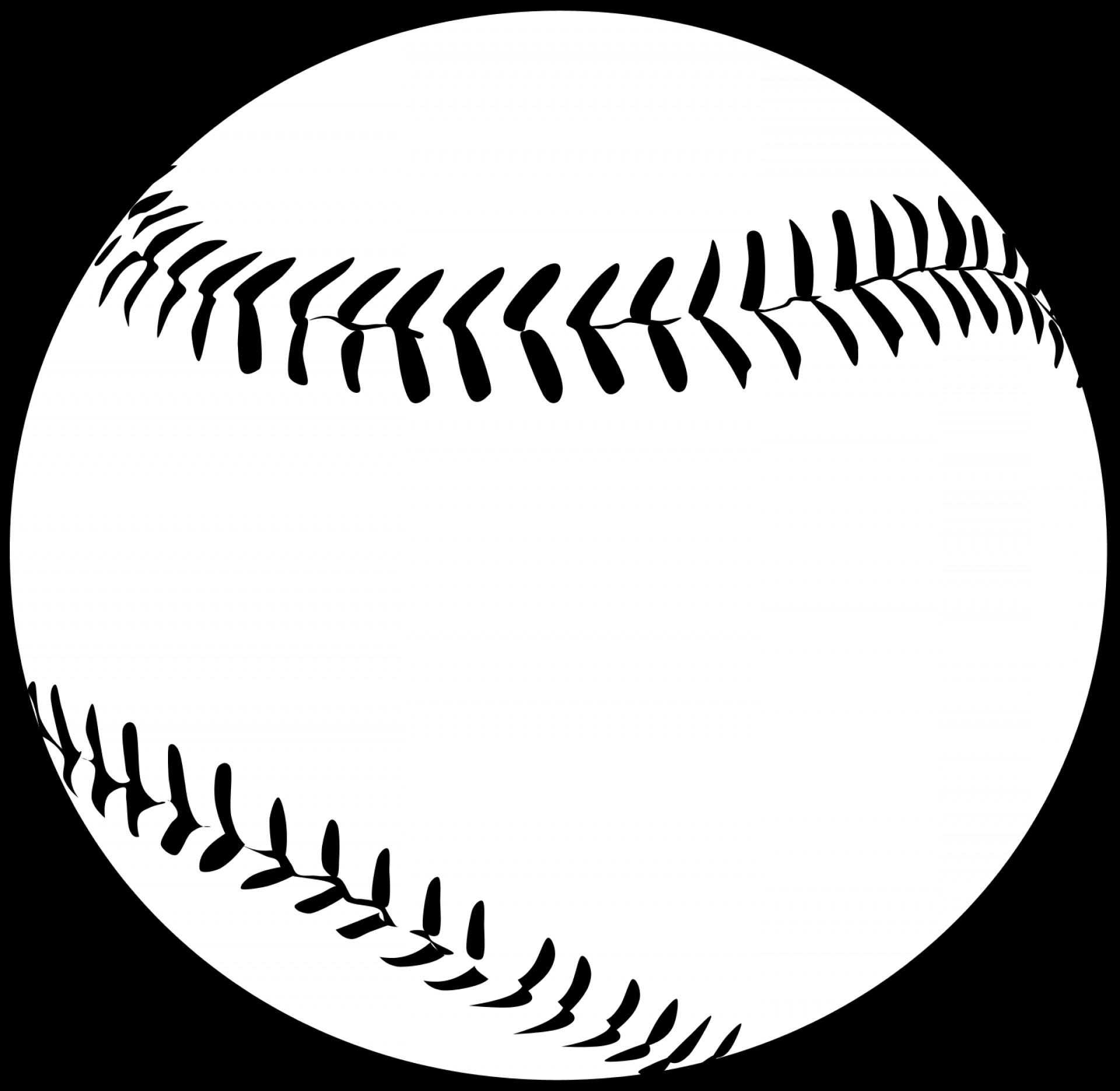 Baseball laces clipart black free download Baseball Clipart Free Black And White | GeekChicPro free download