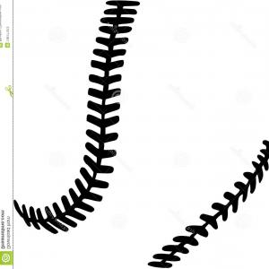 Baseball laces clipart black clipart Lace From A Baseball On A White Background Vector Illustration ... clipart