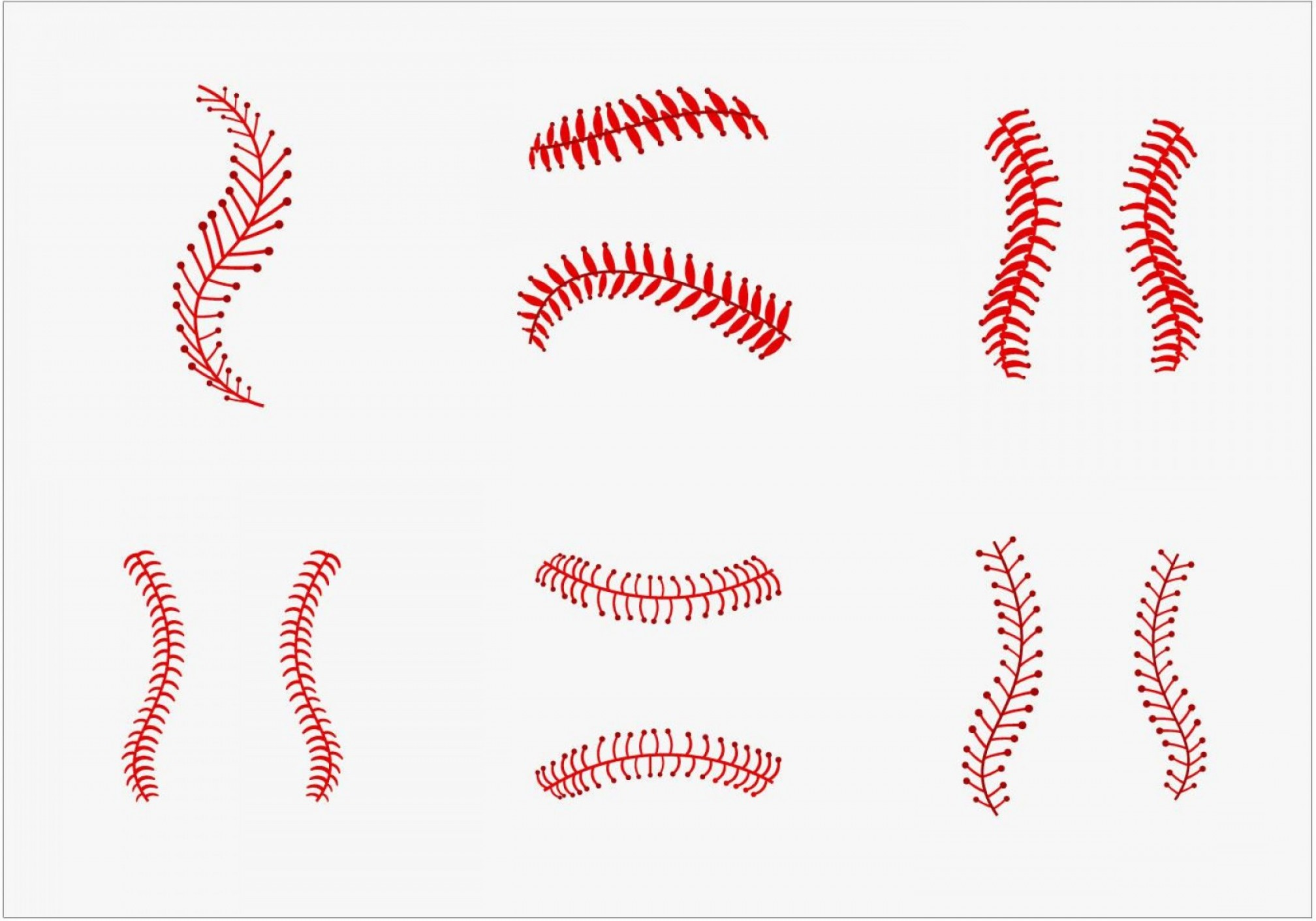 Softball seams clipart transparent download Softball Laces Vector Art B W | SOIDERGI transparent download