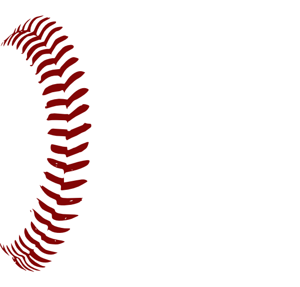 Clipart baseball laces vector library Red Softball Laces 1 Clip Art at Clker.com - vector clip art online ... vector library