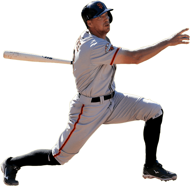 Sf giants baseball clipart clip San Francisco Giants Hunter Pence transparent PNG - StickPNG clip