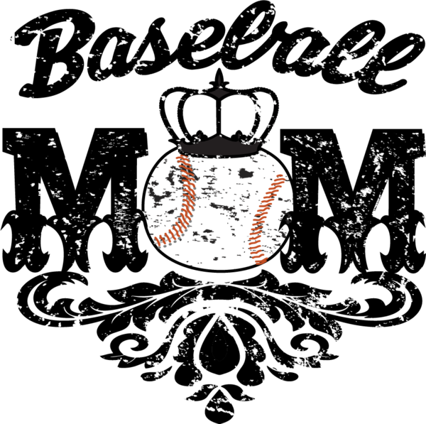 Baseball mom clipart graphic black and white Baseball Softball Custom Transfers- 2017 graphic black and white