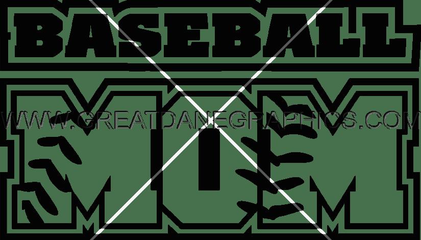 Baseball mom clipart black & white graphic transparent stock Baseball Mom | Production Ready Artwork for T-Shirt Printing graphic transparent stock