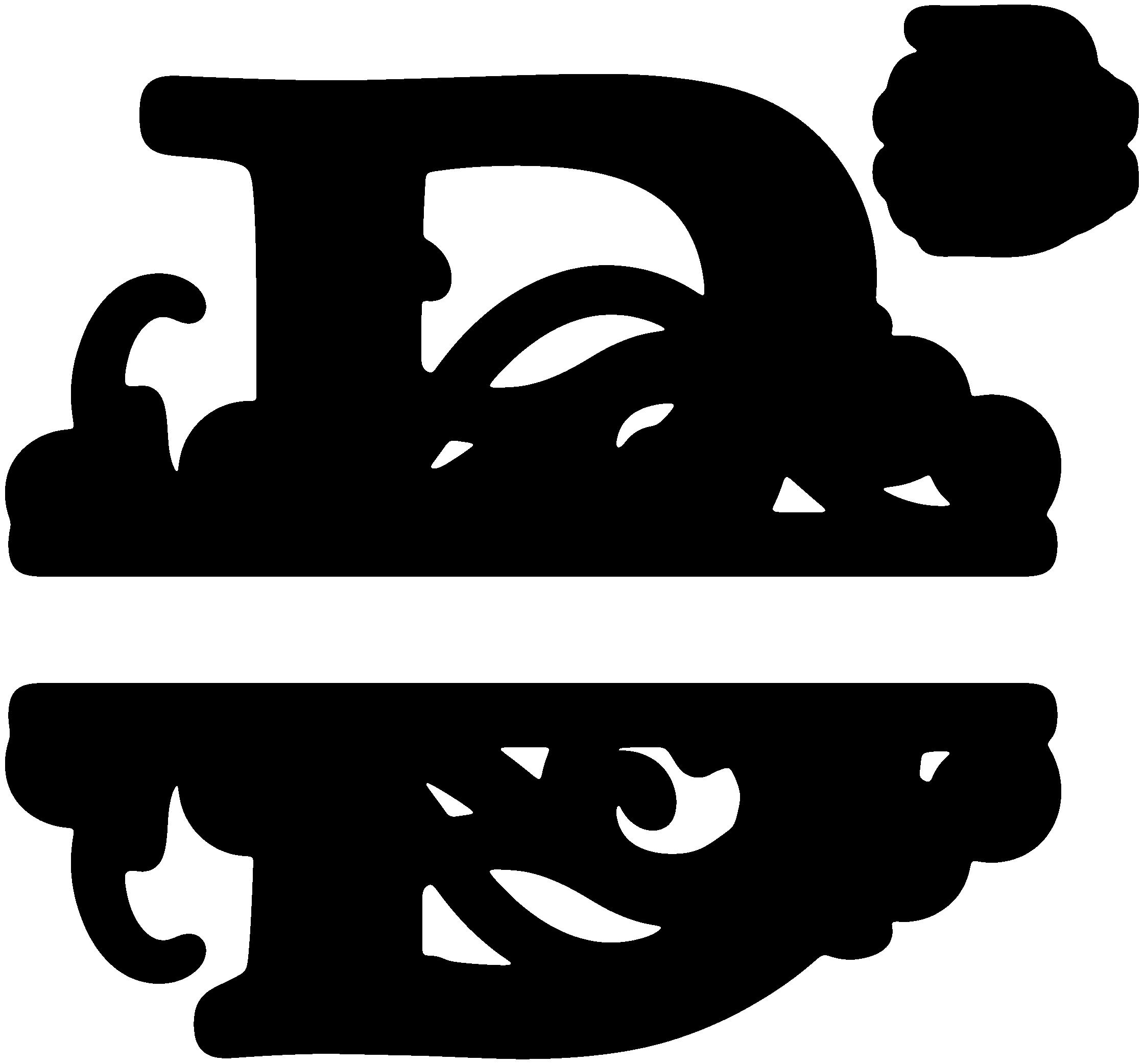 B split sds svgattic. Cross monogram clipart