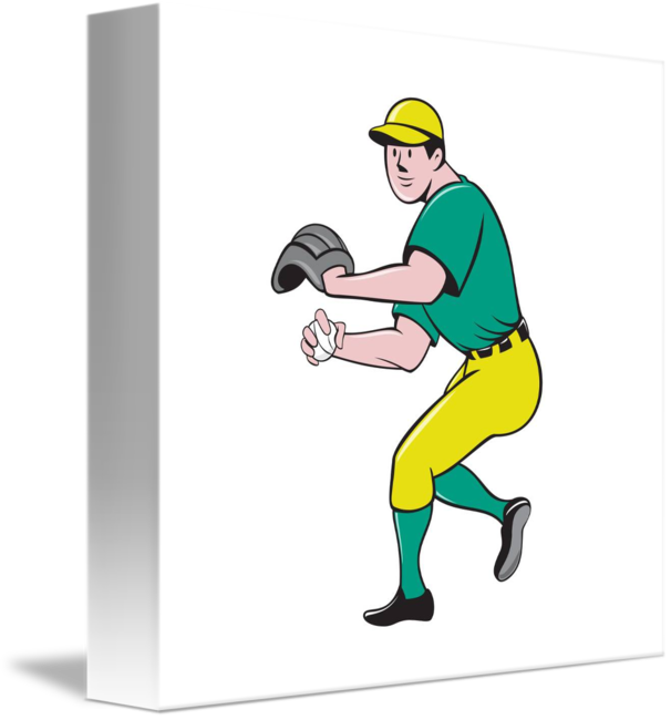 Baseball outfielder clipart svg royalty free download American Baseball Player OutFielder Throwing Ball by Aloysius Patrimonio svg royalty free download