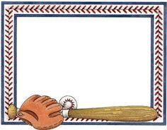 Baseball page border clipart image 18 Baseball Border Template Images - Free Baseball Border Clip Art ... image