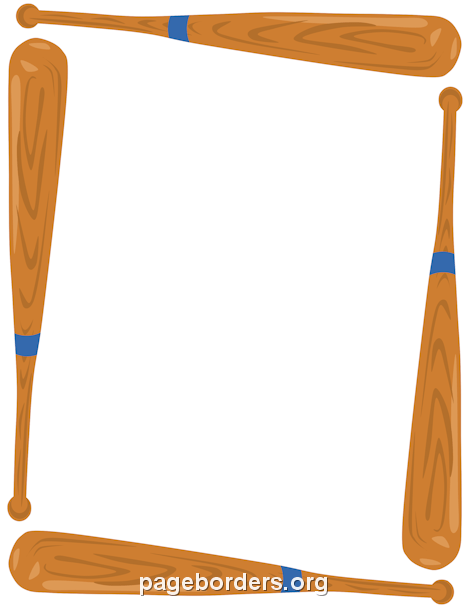 Baseball page border clipart vector transparent Baseball Bat Border: Clip Art, Page Border, and Vector Graphics vector transparent