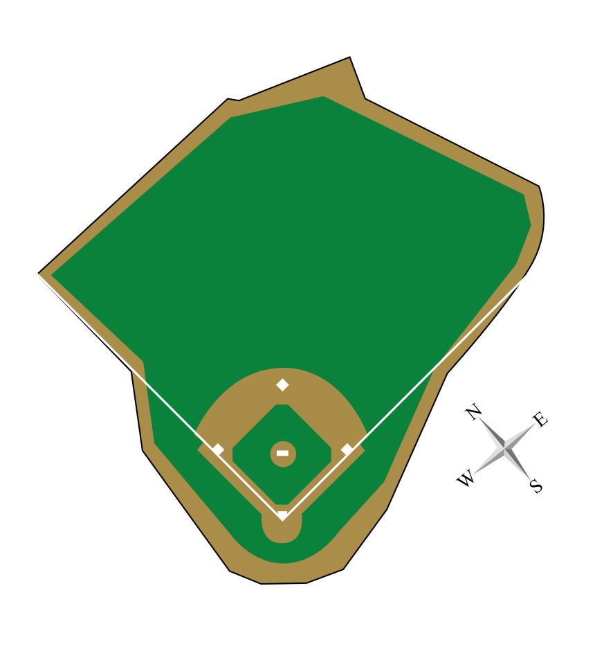 Baseball stands clipart vector library download Fenway Park vector library download