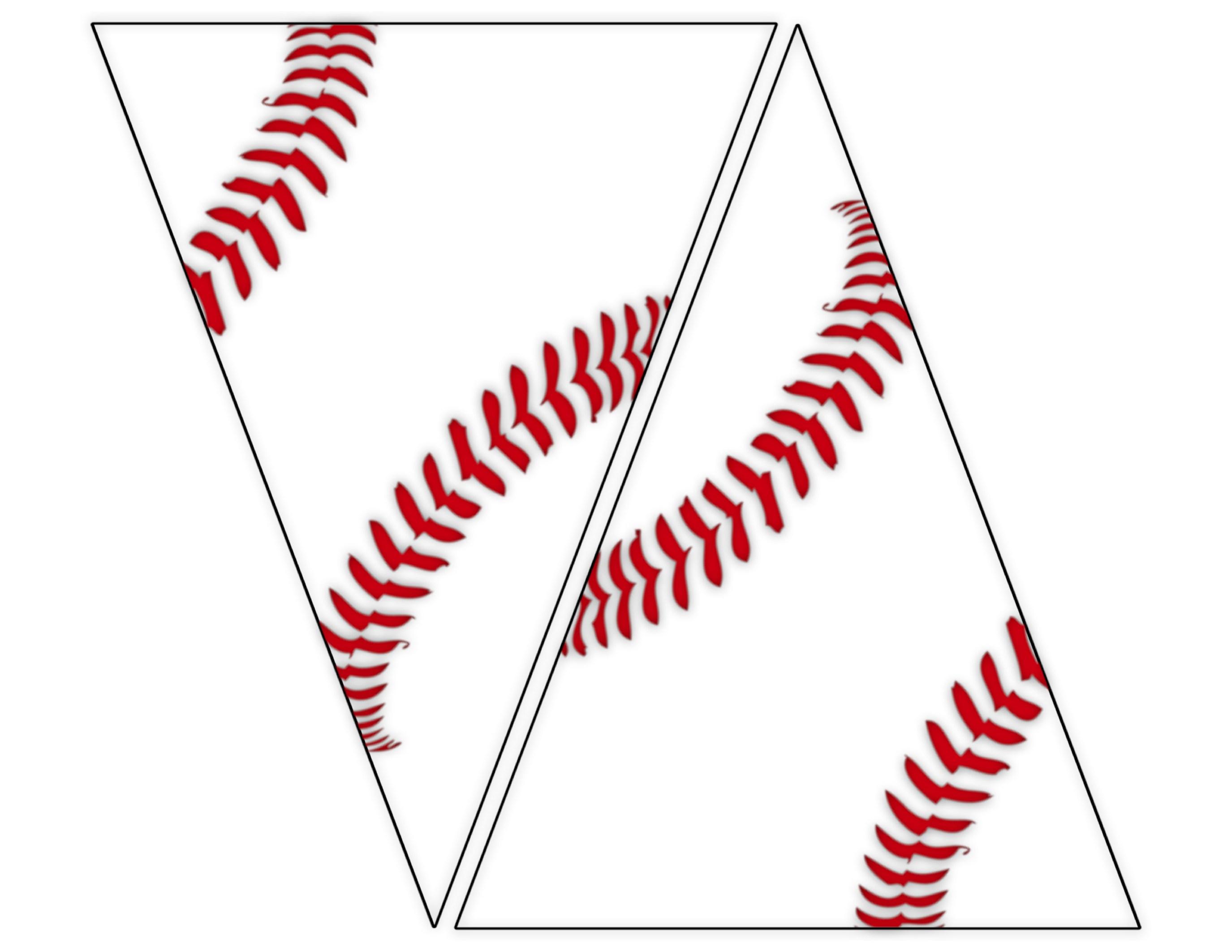 Baseball pennants flags clipart transparent stock Free Printable Baseball Banner {baseball party decorations} - Paper ... transparent stock