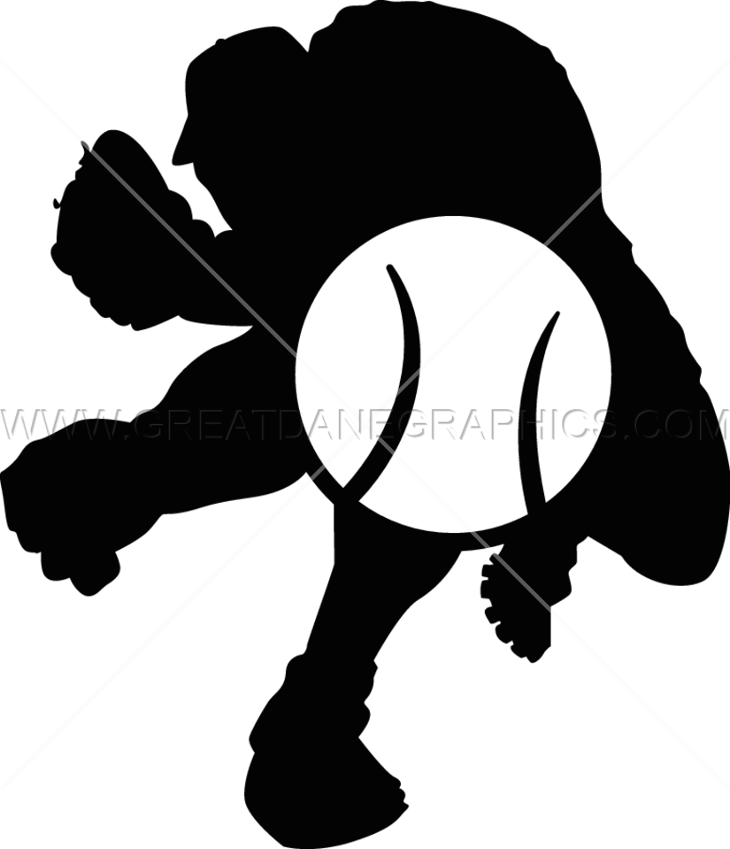 Baseball pitch clipart clipart royalty free library Baseball Muscle Pitcher | Production Ready Artwork for T-Shirt Printing clipart royalty free library