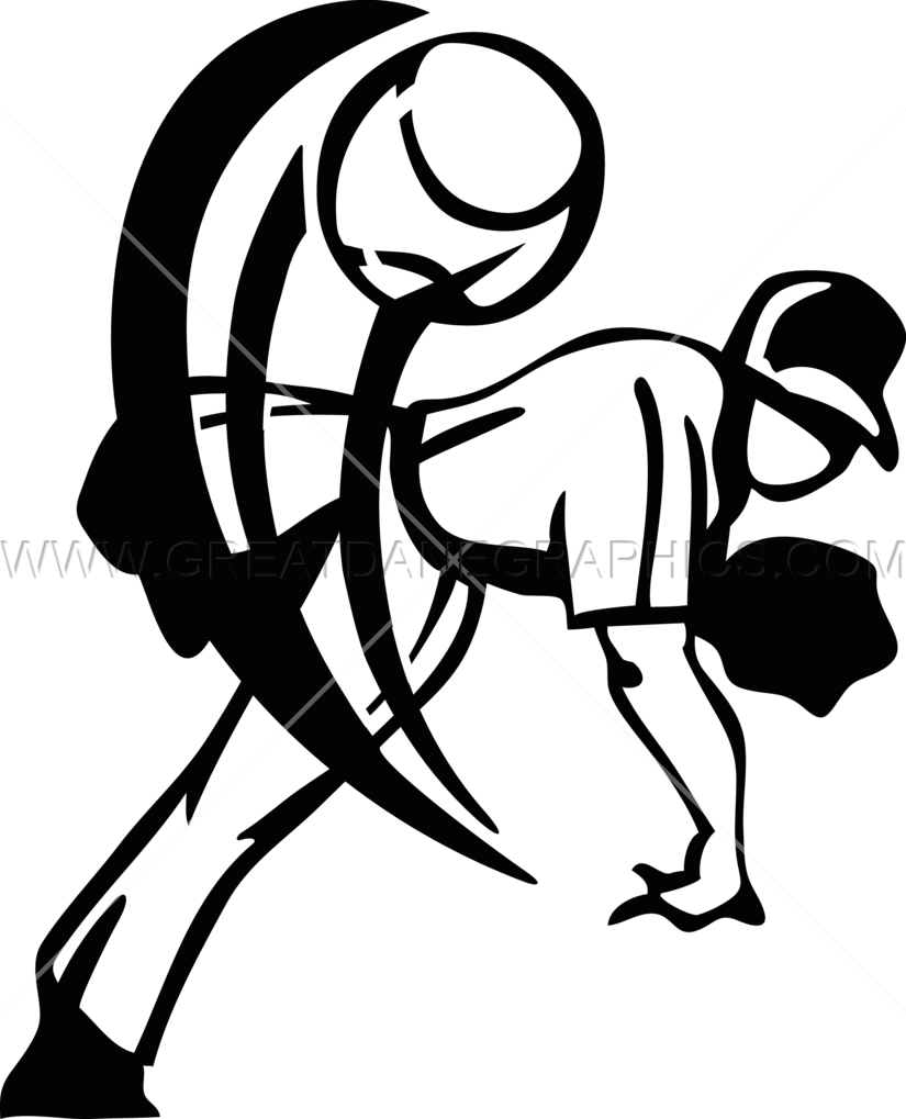Baseball player pitching clipart graphic freeuse library Pitching Baseball Player | Production Ready Artwork for T-Shirt Printing graphic freeuse library