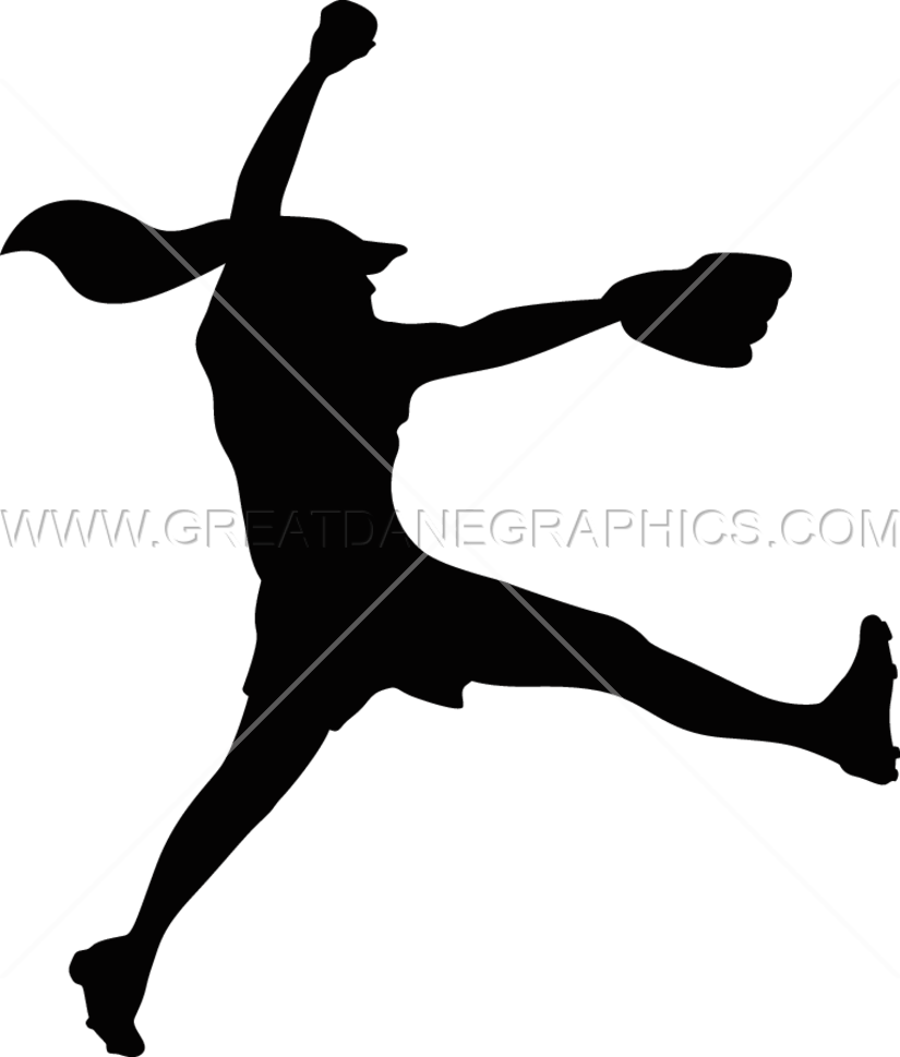 Baseball pitcher silhouette clipart banner library library Fastpitch Pitcher Fire   Production Ready Artwork for T-Shirt Printing banner library library