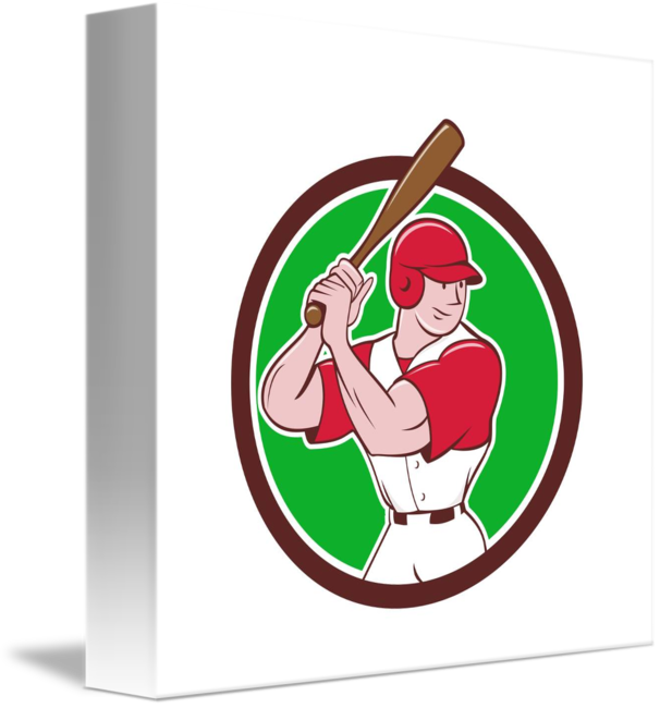 Baseball player batting clipart vector royalty free stock Baseball Player Batting Stance Circle Cartoon by Aloysius Patrimonio vector royalty free stock